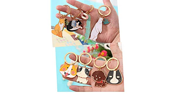 Jewelry Sets & More Cute Animal Keychain Dog Kitty Bear Black Cat Crocodile Fox Key Chain Corgi Bulldog Puppy Keyring Accessories Pet Jewelry