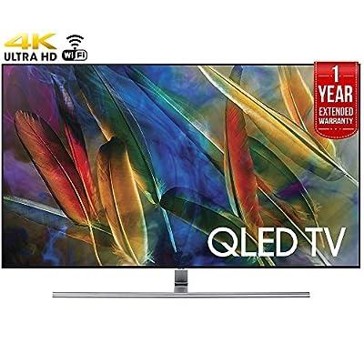 Samsung QN55Q8C - 55-Inch 4K Ultra HD Smart QLED TV (2017 Model) + 1 Year Extended Warranty (Certified Refurbished)
