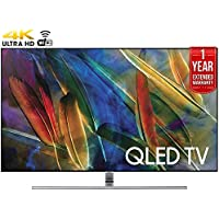 Samsung QN55Q8C - 55-Inch 4K Ultra HD Smart QLED TV (2017 Model) + 1 Year Extended Warranty (Certified Refurbished)