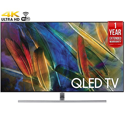 Samsung QN55Q7F - 55-Inch 4K Ultra HD Smart QLED TV (2017 Model) + 1 Year Extended Warranty (Certified Refurbished)