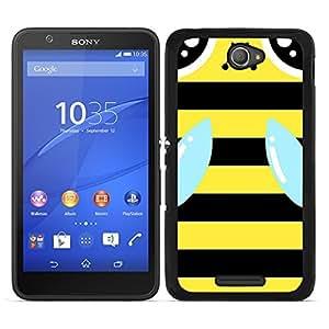 Funda carcasa para Sony Xperia E4 diseño abeja bichito amarillo y negro borde negro