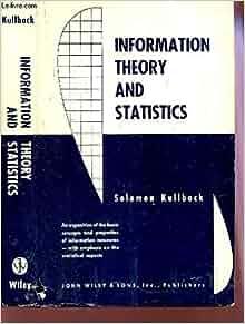 information theory and statistics kullback pdf