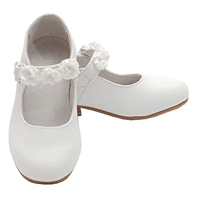 5c581422c0d9 L Amour White Slip On Bow Flat Dress Shoes Little Girls 11-4 – Sophia s  Style. Im Link Girls Mary Jane Flower Accent Flat Dress Shoes Toddler Little  Girl ...