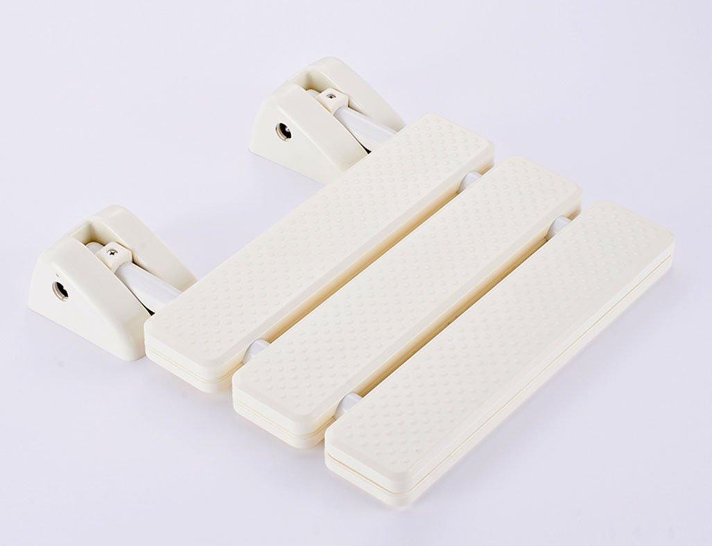 折りたたみスツールチェアバスルームスツールウォールチェアバススツールシャワースツールチェンジスツール (色 : 白) B07DMVY4VZ 白 白