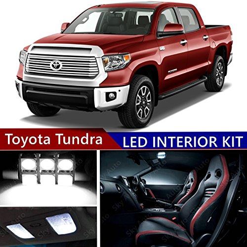 Toyota Tundra 2007-2017 LED Premium Xenon White Light Interior Package Kit ( 14 pcs )
