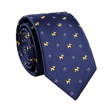 ROUNYY Corbata de Navidad, oficina, club, boda, corbata de rayas ...