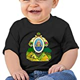 Zuwnqsw Baby Coat of Arms of Honduras Unisex Infants Crew Neck Short Sleeve Tee 24 Months Black