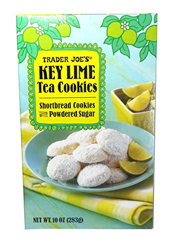 (Trader Joe's Key Lime Shortbread Tea Cookies with Powdered Sugar 10 Oz.)
