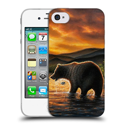 Cooliphone4Cases.com-2829-Persistence Wildlife And Animals Soft Gel Case for Apple iPhone 4 / 4S-B01KX48H6G-T Shirt Design