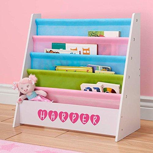 Personalized Dibsies Kids Bookshelf (Pastel)