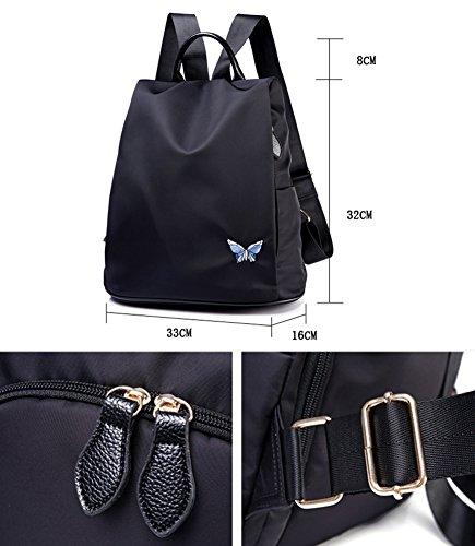 Black Kigurumi Noir à Femmes Cartable dos Sac à dos pour Scolaire 2 Sacs Daypack Élégant A8OA7x