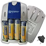 Nikon COOLPIX B500 Digital Camera Battery Charger Replacement of 4 AA NiMH 2800mAh Rechargeable Batteries, with Charger
