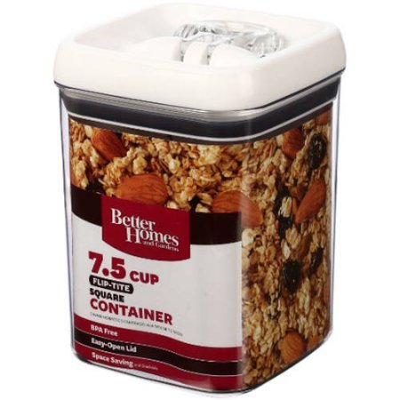 Better Homes and Gardens Flip-Tite 7.5 Cup Square Container (1) from Better Homes and Garden