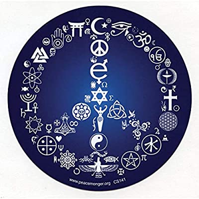Coexist Word Symbol Peace Sign Esoteric Interfaith Bumper Sticker/Decal 5