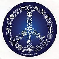 "Coexist Word Symbol Peace Sign Esoteric Interfaith Bumper Sticker / Decal 5"" Circular"