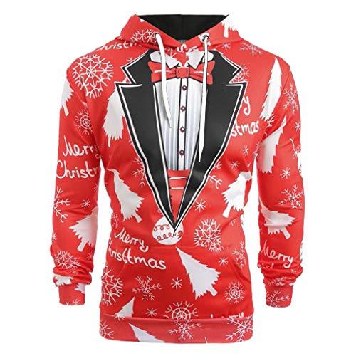 Coat Men Christmas KYLEON Suit Pattern 3D Print Long Sleeve Hoodie Caps Sweatshirt Pullover