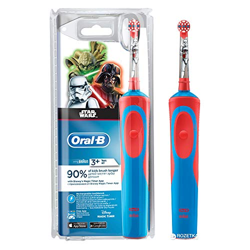 Oral-B Kids Battery Powered Electric Toothbrush Featuring Disney STAR WARS with Extra Soft Bristles,...