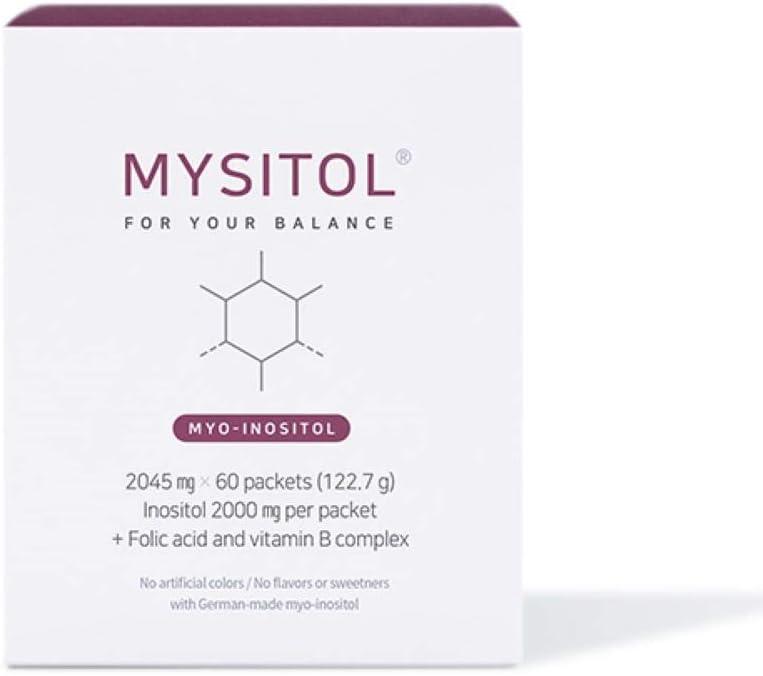 MYSITOL, Myo-Inositol & Folic Acid & Vitamin B Complex | Fertility Women | Serving for 30 Days | Women Health | Hormonal Balance | Regular Cycle | Healthy Ovarian | Non-GMO | Inositol Powder