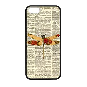 Chevron Dragonflies Dragonfly Custom Cover Case for iPhone 5,5S TPU (Laser Technology)