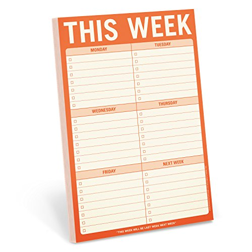 Stationery Memo Pad (Knock Knock This Week Pad)