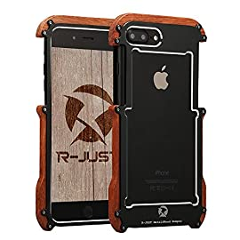 iphone 7 Bumper case,Feitenn Hybrid Wood Alloy Aluminum Metal Bumper Case Slim Fit Light Strong Hard Heavy duty shockproof frame Wood case for 4.7 inch iphone 7 screen protect as gift 9 1.Compatible with Apple iphone 7 4.7 inch ONLY, iPhone 7 screen protect tempered glass as gift.Will not be compatible other phone. 2.Hybrid material Vintage Wood edges adds to the beauty and sleekness of the case and uttermost reduce the effect to the signal+ Adopt the top-level aircraft grade aluminum give case good protection. 3.Bumper cases have a major advantage over full-back cases,they keep the phone from getting warm,which add the lifetime of the battery.The function hole total opening, let you uttermost enjoy all of the function of the phone.