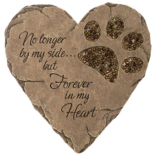 Carson - BEADWORK GARDEN STEPPING STONE - PET (Patio Hand Cast)