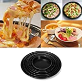 Bluelover 6 Sizes Round Aluminum Alloy Pizza Pan Non-Stick Oven Baking Mould Cake Pastry Tray