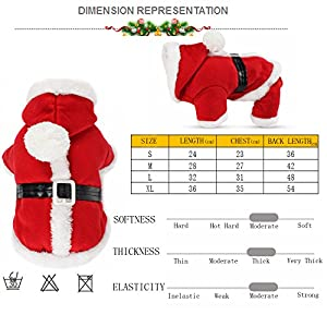 Tseng Christmas Pet Costume For Cats & Dogs Puppies Funny Halloween Costume Pet Clothes Gift (M)
