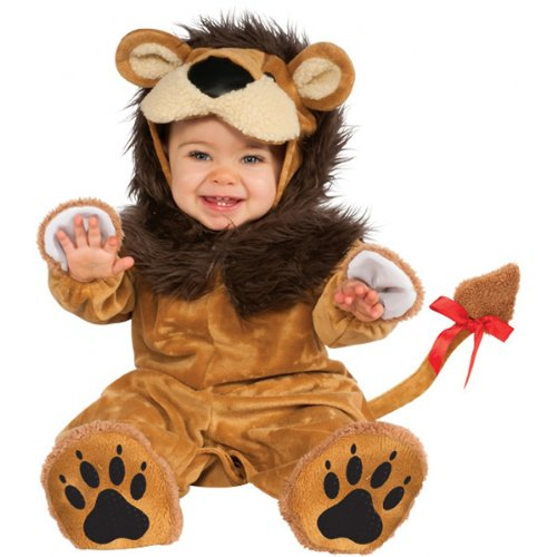 Rubie's Cuddly Jungle Lil Lion Romper Costume, Golden, 12-18 (Halloween Costume Themes For Groups)