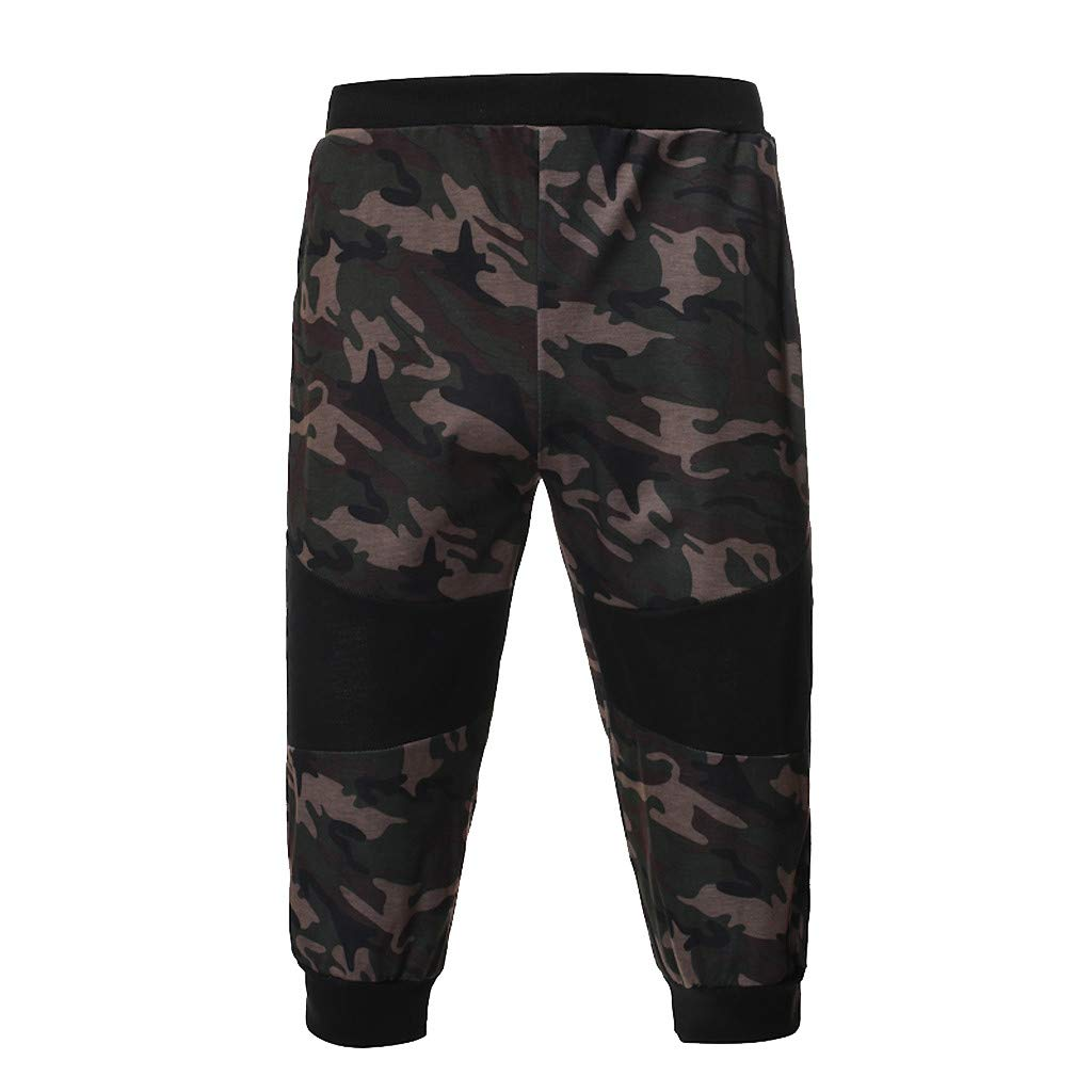 AHAYAKU Men's Summer Casual Slim Fit Camouflage Sports Pant