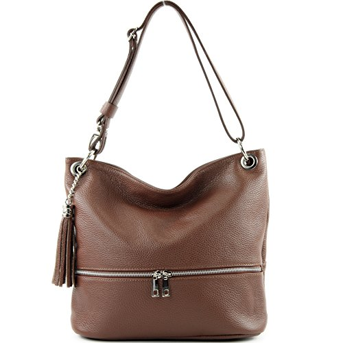sac Schokoladenbraun T143 sac d'épaule sac de modamoda cuir en épaule dames ital cuir en OExxHqnw