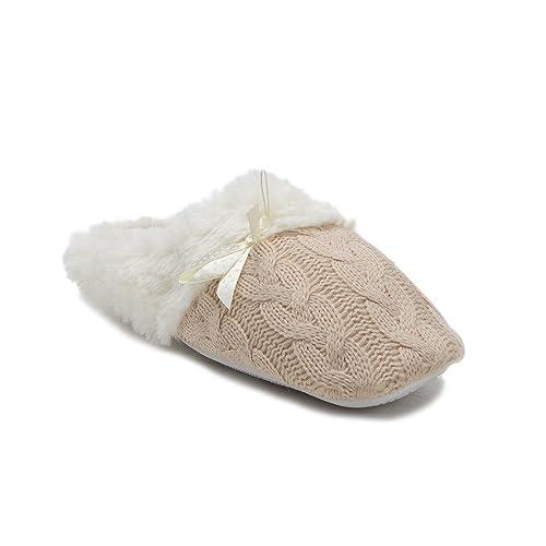 3f5ee252f23 J aime Aldo New Women s 1346 Faux Fur Lined House Shoes