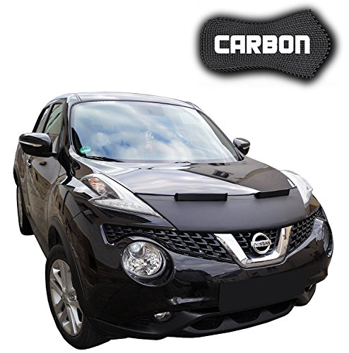Hood Bra Nissan Juke CARBON Bonnet Car Bra Front End Cover Nose Mask Stoneguard Protector TUNING