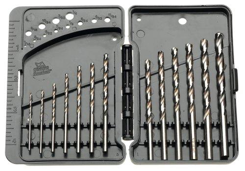 - Vermont American 10245 13-Piece High Speed Steel Drill Bit Set-1/16-Inch-1/4-Inch