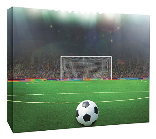 JP London MCNV2361 Penalty Kick Soccer Football Field 2'' Thick Heavyweight Gallery Wrap Canvas, 3' x 2' by JP London