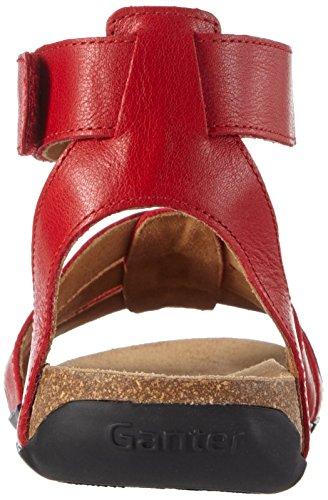 Ganter Giulia, Weite G - Sandalias Mujer Rojo - Rot (red 4000)