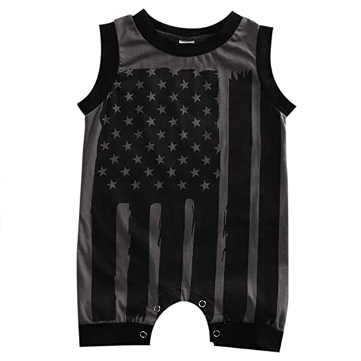 daa3ff7ab16e IEason Newborn Infant Baby Boy Girl 4th of July Stars and Stripes Romper  Clothes Outfit (