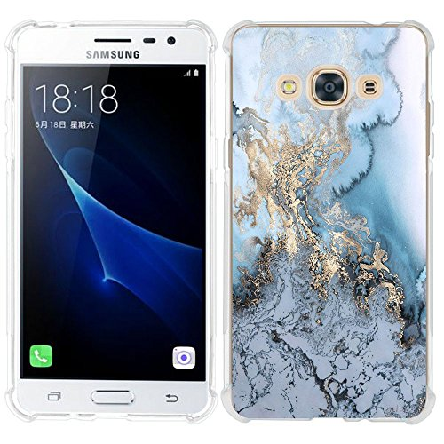 AIsoar Galaxy j3 2016 Clear Case,Galaxy j3 2016 Marble Phone case,Marble design Ultra Slim TPU Air Cushion Non-Slip Shockproof Anti Scratch Protection Case for Samsun Galaxy j3 2016 (16)