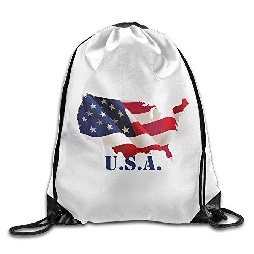 Penguin Rider Costumes (Bekey Floating American Flag Drawstring Backpack Sport Bag For Men & Women For Home Travel Storage Use Gym Traveling Shopping Sport Yoga Running)