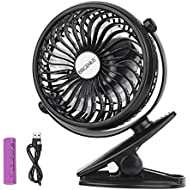 Battery Operated Clip On Mini Desk USB Fan With Rechargeable...