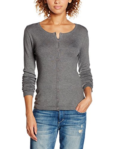 ICHI, Suéter para Mujer Grau (Dark Grey Melange 10021)