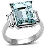 9ct Yellow Gold Ladies 45ct Synthetic Sea Blue Spinel Ring - Finger Sizes L to Z Available