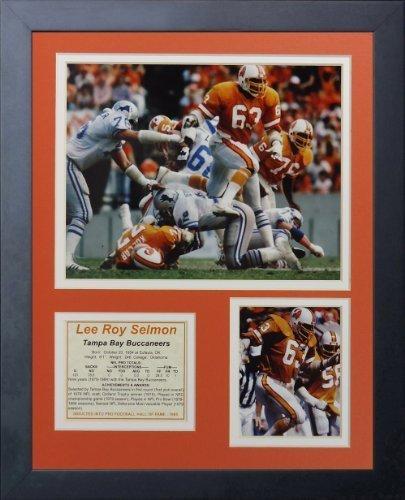 "Legenden Sterben Nie ""Lee Roy SELMON Tampa Bay Buccaneers"" gerahmtes Foto Collage, 11 x 35,6 cm von Legends Never Die"