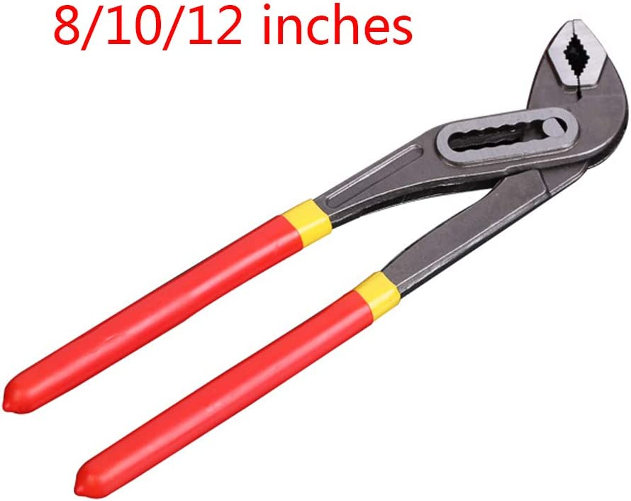 NAIXUE 8/10/12Inch Water Pump Pliers Quick-Release Plumbing Pliers Havy Duty Straight Jaw Groove Joint Plier C