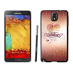 Feb 14 Valentines Day Hard Plastic Samsung Galaxy Note 3 Protective Phone Case