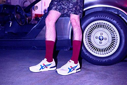 Blanco de Running Adulto Zapatillas Creamclassic 0042 Blue Asics 78 Unisex Ex California HI686q