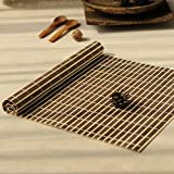 BERTERI 4Pcs Bamboo Placemats Heat Resistent Table Placemat Tableware Pad Waterproof Coffee Tea Mat Home Decoration Tea Ceremony