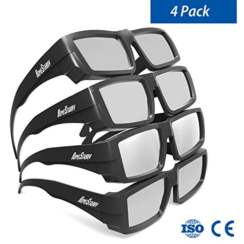 Solar Eclipse Glasses, Protable Plastic Glasses CE and ISO Certified Safe Shades for Direct Sun Viewing Adult Size Protect Your Eyes Solar Eclipse Goggles(4 Packs)
