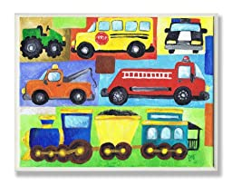 The Kids Room by Stupell Transportation Collage Oversized Rectangle Wall Plaque