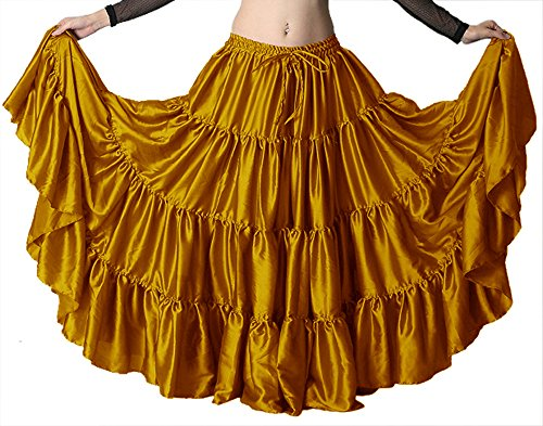 Satin Circle Skirt (Indian Trendy 36